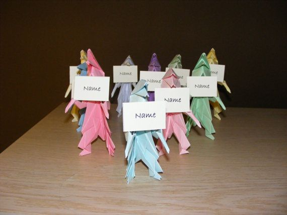 Photo of Items similar to Dinosaur party, Origami Dino Party, Set of 20 Dinosaur Origami, Dinosaur party name table, Dino party Name table, T-rex party, on Etsy