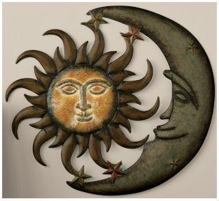 Sun Moon Wall Decor Moon Art Sun Art Sun Moon Stars