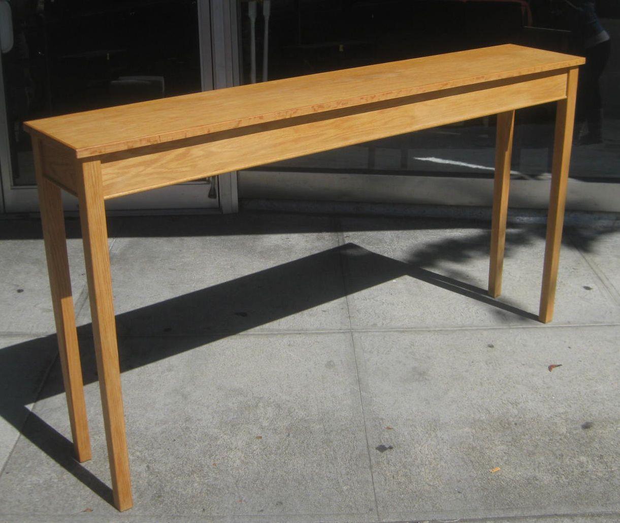 Attractive Extraordinary Long Skinny Black Table