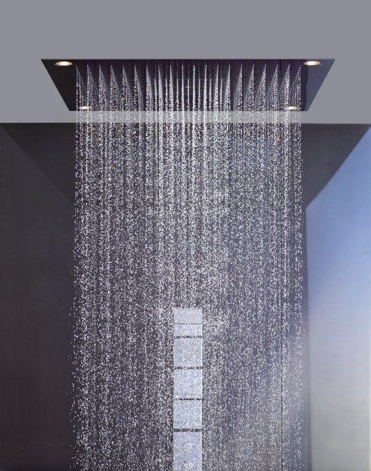 einbau kopfbrause mit integrierter beleuchtung zur deckenmontage kollektion axor starck by hansgrohe design philippe - Hansgrohe Wasserfall Dusche