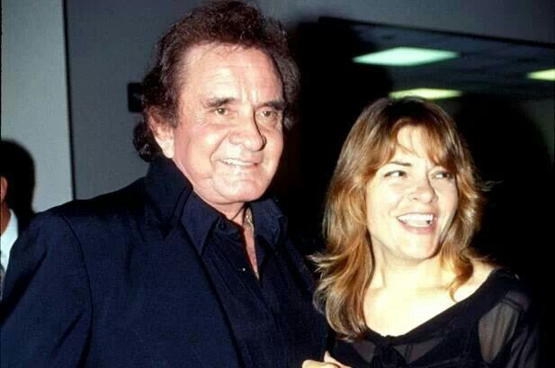 Johnny Cash and daughter Roseanne
