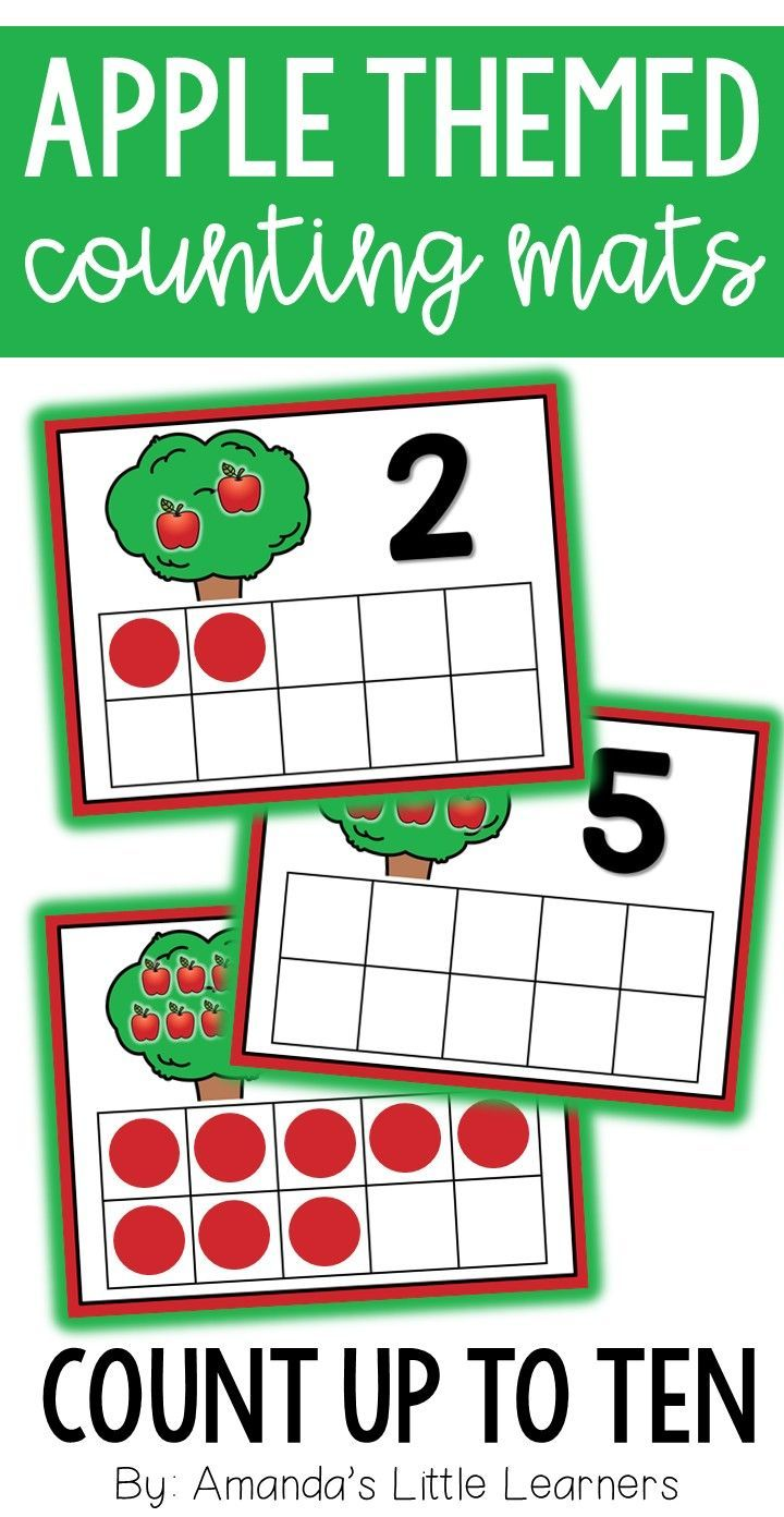 Students Can Practice Building Counting Number Sense And Ten Frame Skills With These Fun Mats Use Manipulativ Teacher Created Resources Apple Theme Fun Math [ 1392 x 720 Pixel ]