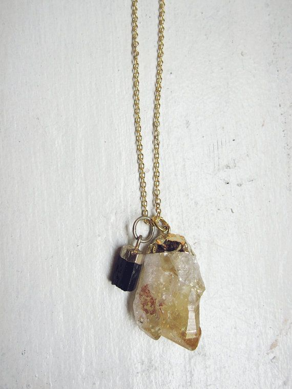 0ab905159e5d21 Black Tourmaline, Citrine. The tourmaline would absorb all the negative  energy as the citrine naturally cleanse the tourmaline of all negative  energy, ...