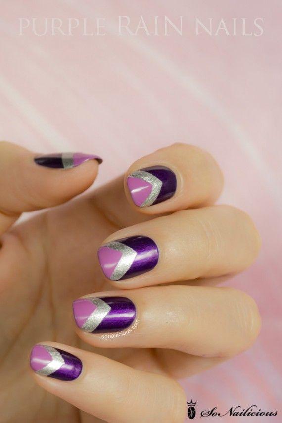 Hermosa Arte Púrpura Y Rosa De Uñas Embellecimiento - Ideas de ...