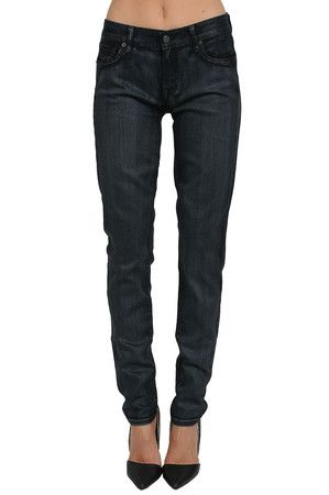 TEXTILE Elizabeth and James Shiny Mercury Jean in Dark Blue Review Buy Now