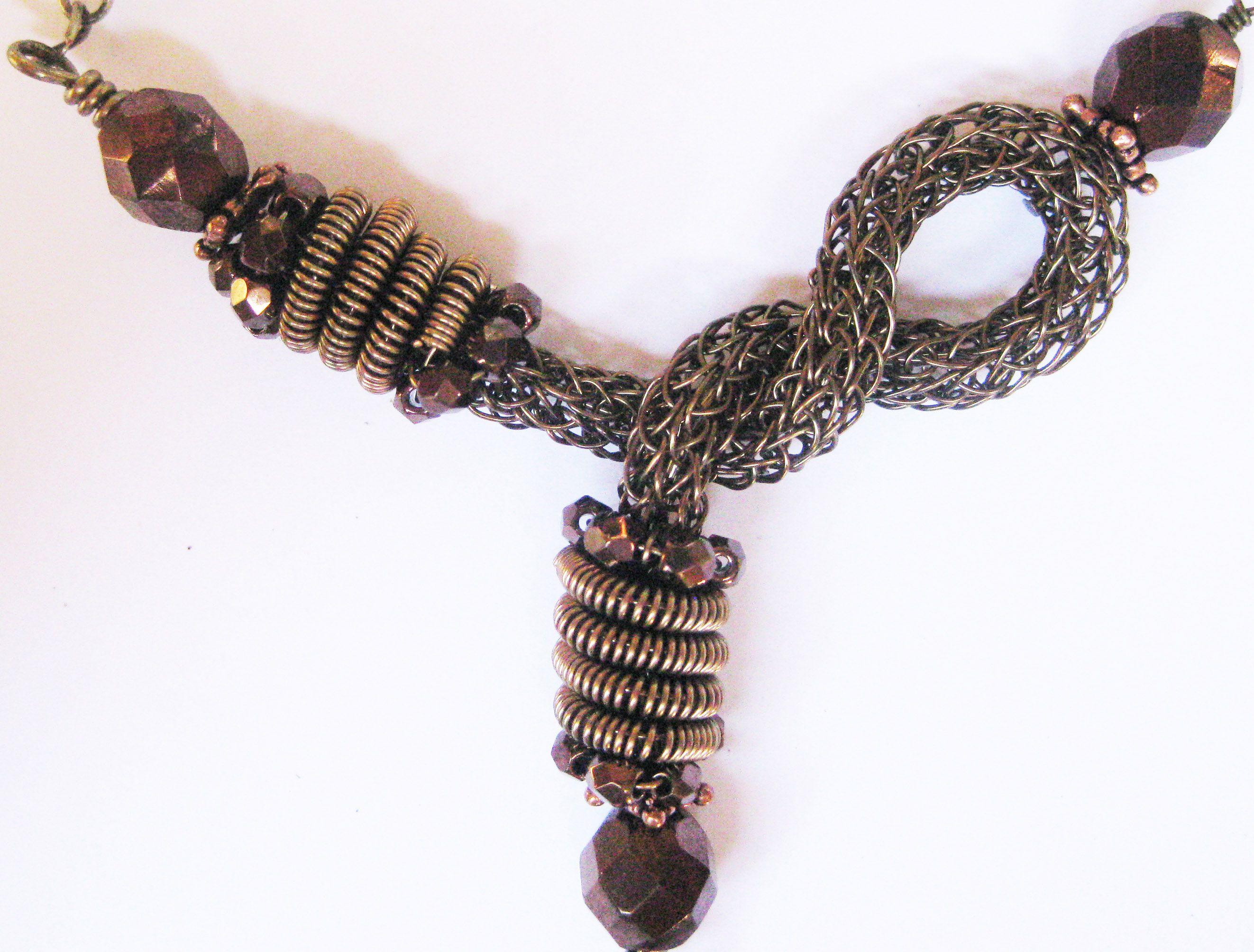 asymmetric viking knit knotted centerpiece | jewelry: wirework ...