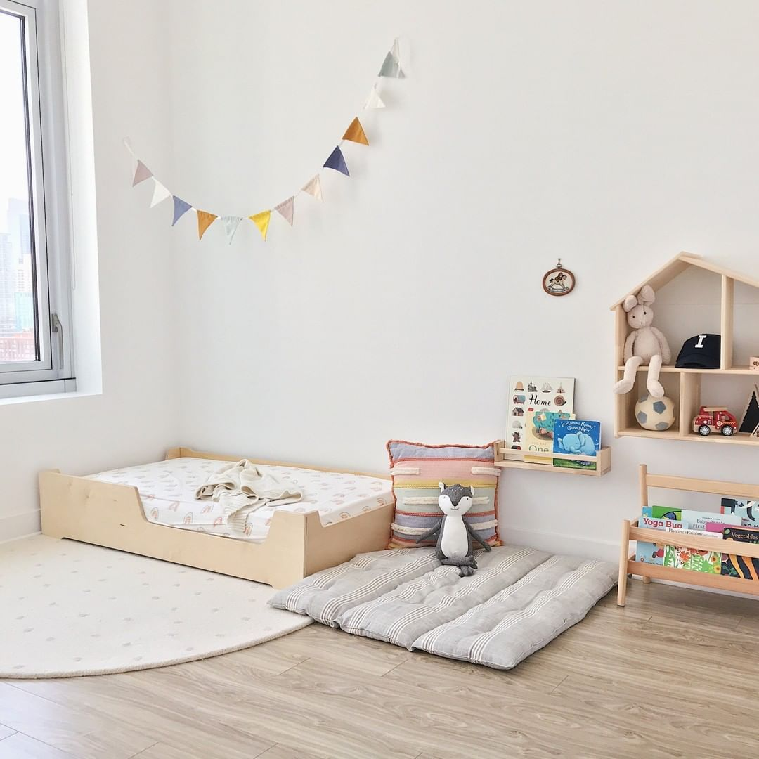 """Sprout. Modern kids furniture. on Instagram: """"The floor bed is the best investment we have made in our parenting journey thus far. It's helped foster so much independence for our…"""""""