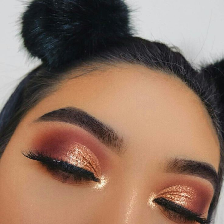 Glow Makeup, Copper Eyeshadow, Orange Eye Makeup, Orange -6082