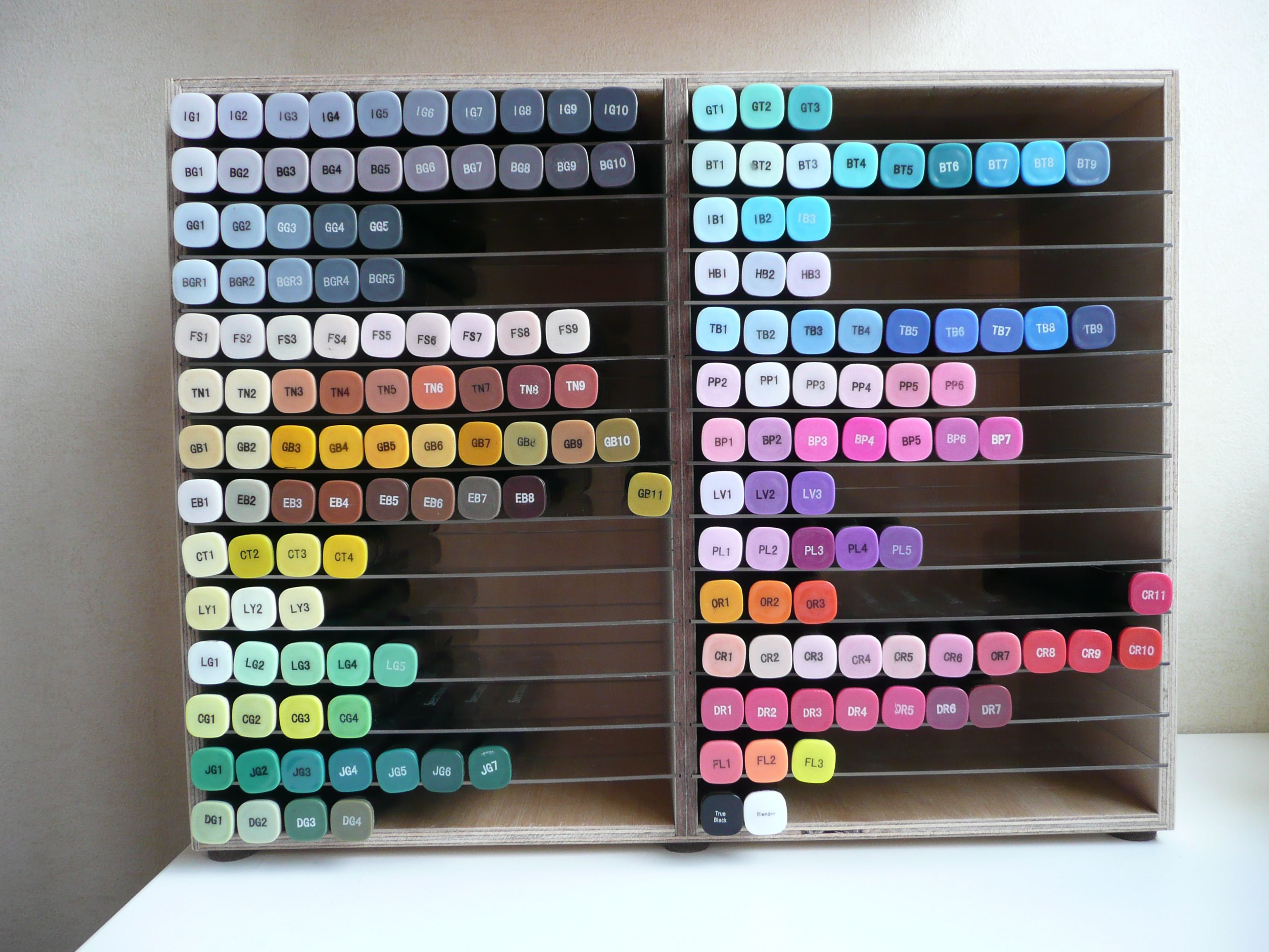 Marker Storage Home Made Marker Storage Craft Room Storage Spectrum Noir Markers