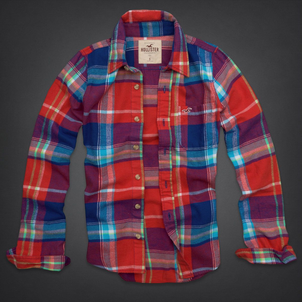 Retro flannel shirts  Hollywood Beach Flannel Shirt  Hollister  Pinterest  Hollywood