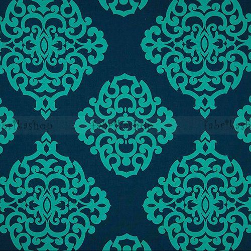 742b208a7eec 110cm sultana - damask teal - designer pamut méteráru - textil - fabrikashop