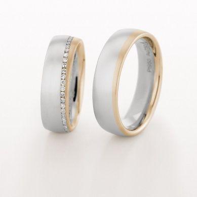 Zweifarbig www.marrying.at – Eheringe – # Eheringe #wwwmarryingat # zweifarbig