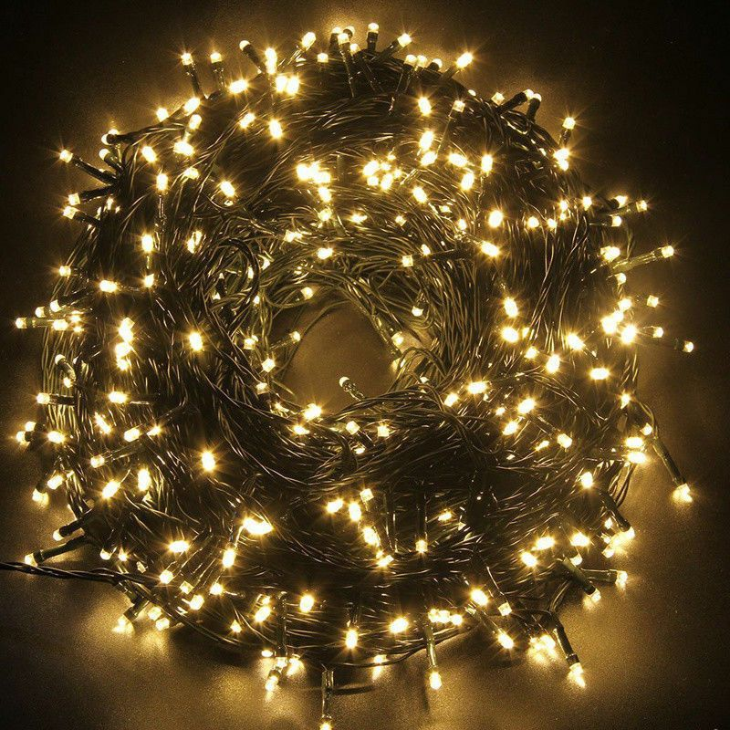 Warm White Tree Wall Fence 2 x Solar Hanging Bauble Light