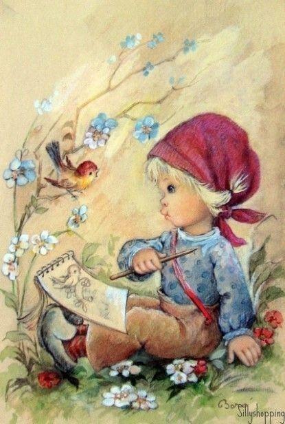 illustrations vintages mignonnes de c - Page 5