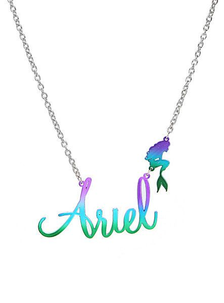 3246c6e13 Disney The Little Mermaid Ariel Name Necklace | Hot Topic | Jewelry ...