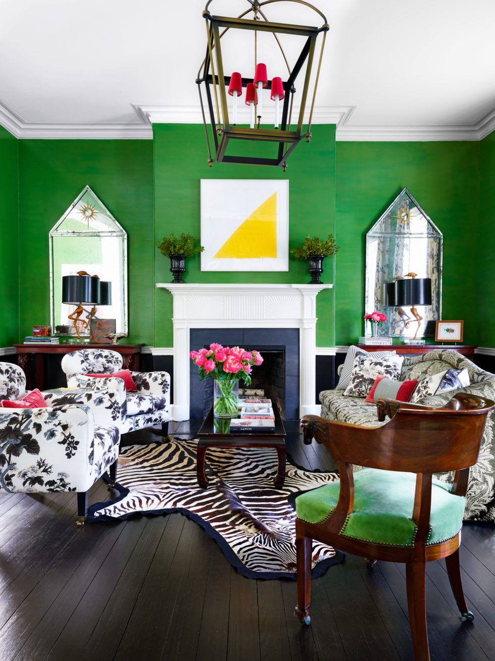30 unexpected pops of colors that will transform any room on home interior colors living room id=91681