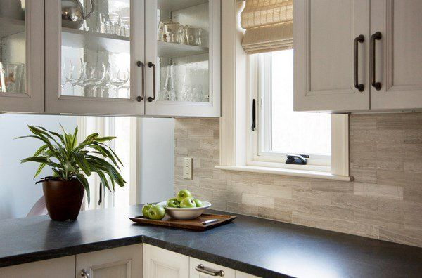 Modern Kitchen Backsplash With White Cabinets travertine tile backsplash ideas modern kitchen design white