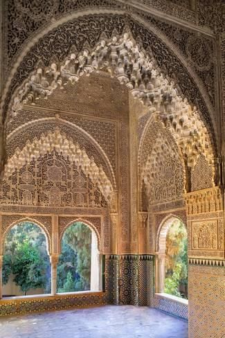 Photo Alhambra Nazari Palace Palace Of The Lions Hall Of Aljimences 9 14th C Granada Spain 24x16in Alhambra De Granada La Alhambra Y Palacios Nazaries