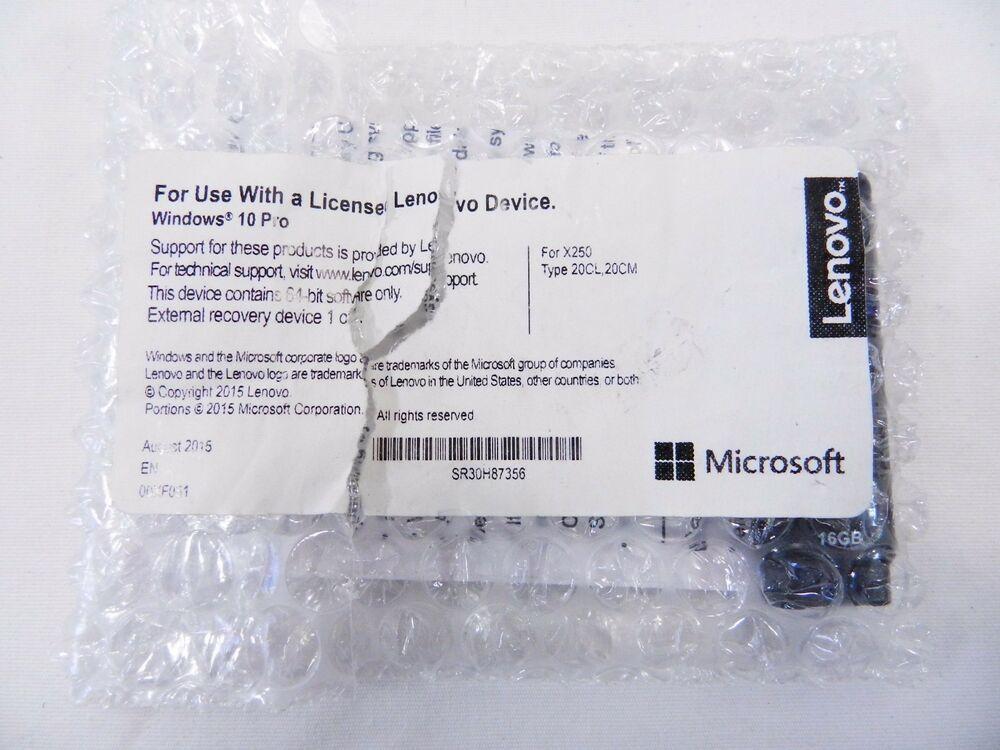 Ebay Sponsored Genuine Recovery Usb 16gb For Lenovo Thinkpad X250
