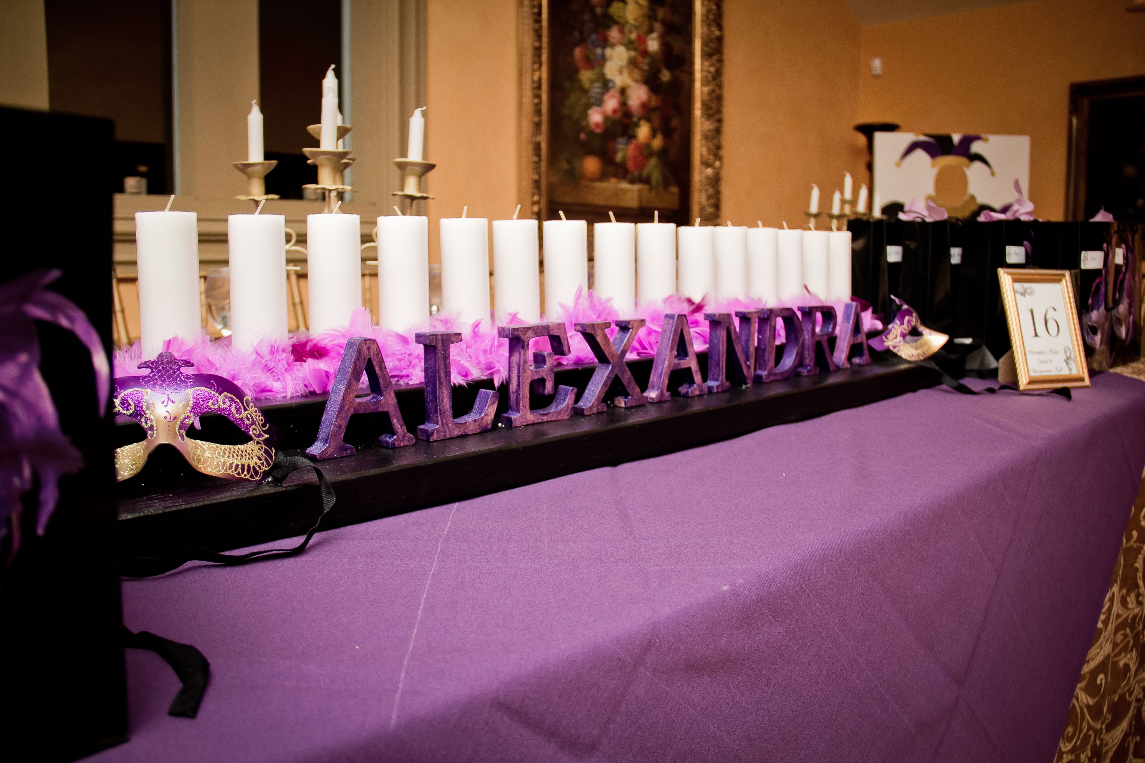 Sweet Sixteen Masquerade Ball Candle Ceremony