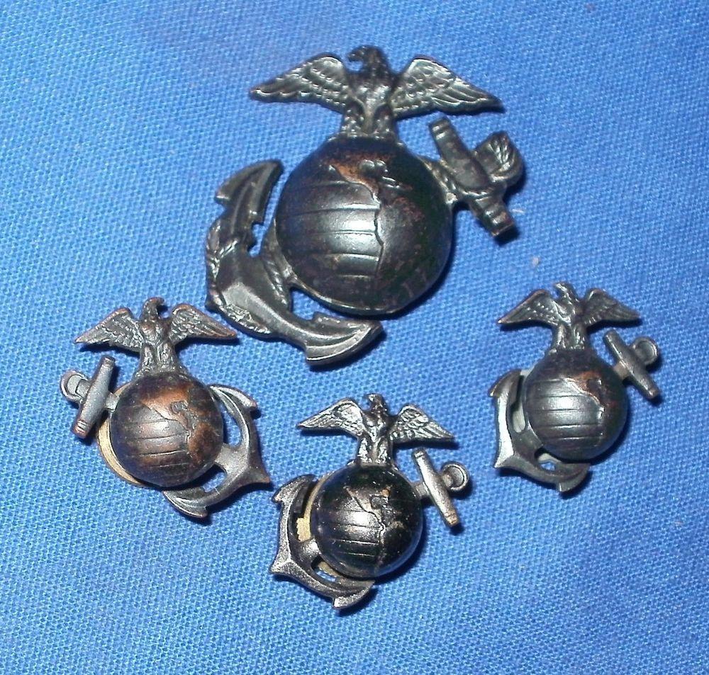 Police cap badges ga rel hat badges page 1 garel - Ww2 1940s United States Marine Corps Hat Badge Collar Pins Garrison Cap Pin