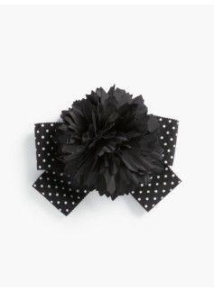 Polka-Dot Ribbon Flower Corsage