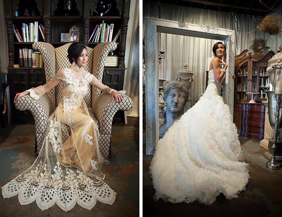 Modern Vietnamese wedding style https