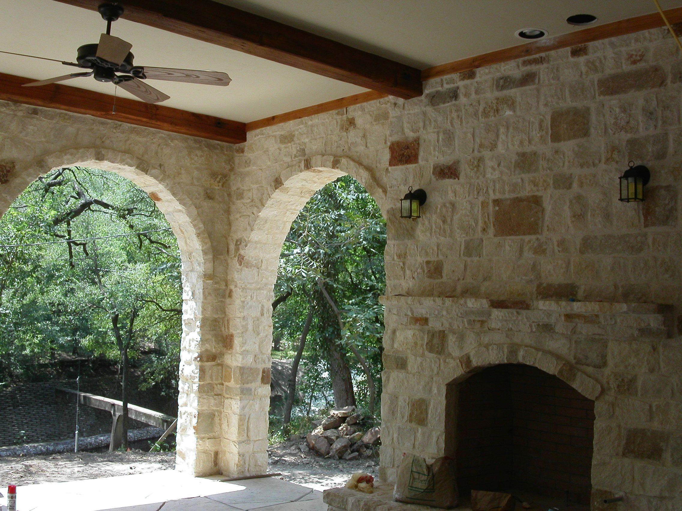 Thin Brick Veneer Stone Natural Thin Stone: Granbury Custom Blend Natural Limestone Full Size Or Thin