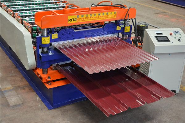This Is Uruguay Type Double Layer Roofing Sheet Roll Forming Machine One Machine Produce Corrugated Sheet Steel Roofing Sheets Roofing Sheets Roofing