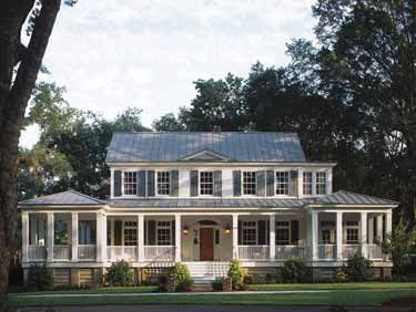 LOVE Southern style homes with the front/wrap around porch.