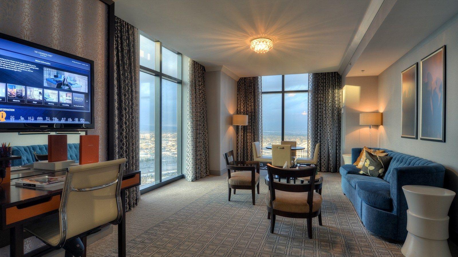 Two Bedroom City Suite The Cosmopolitan Las Vegas One Bedroom With King Bed Second Bedroom With 2 Queens 2 Full City Suites Bedroom Suite 2 Bedroom Suites