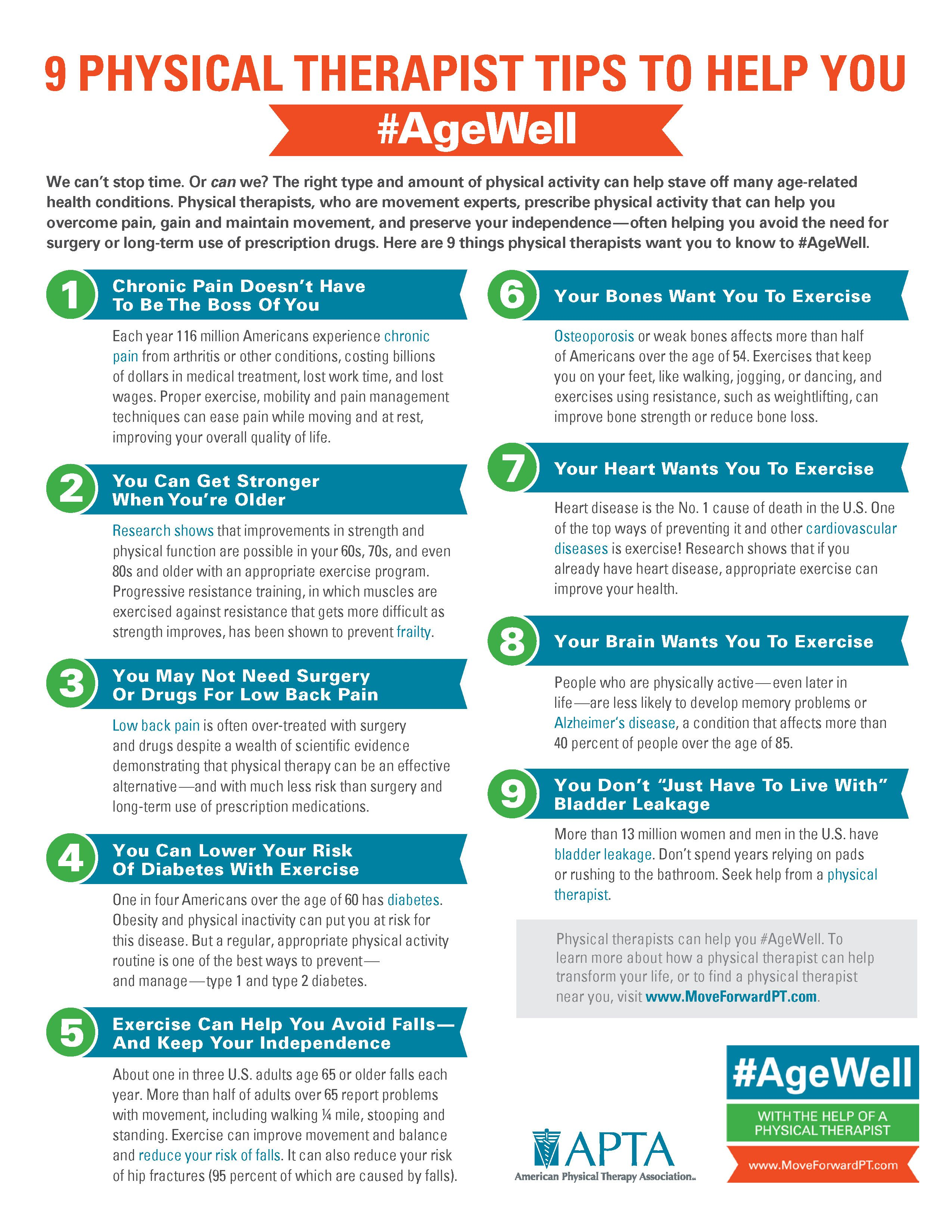 American physical therapy - 9 Physical Therapist Tips To Help You Agewell