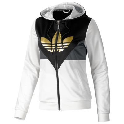 white and gold adidas hoodie