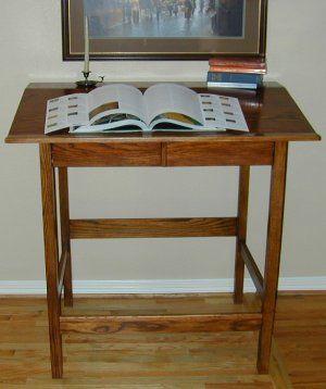 Standing Desk Standup Desks at wwwplesumscomwood back