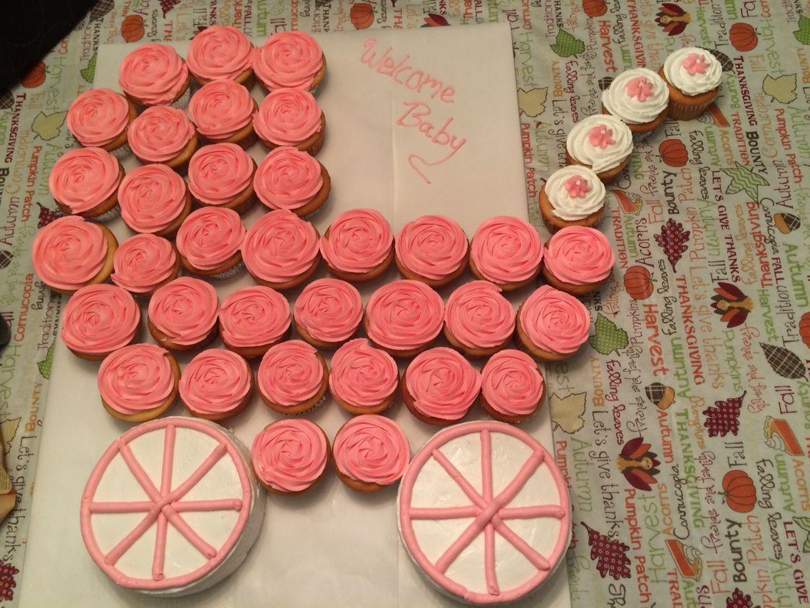 Baby Carriage Pull Apart Cake · Cupcake DecorationsCupcake IdeasCupcake ...