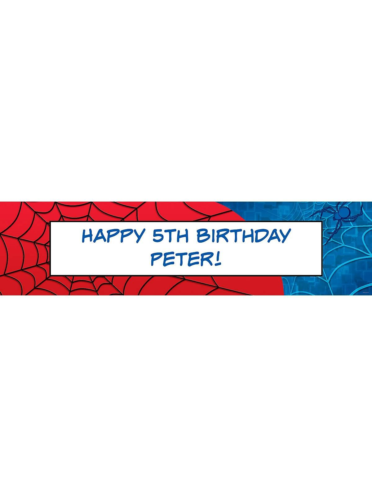 Bargain Party Decorations Spider Personalized Banner Each Kid Spiderman And Spider