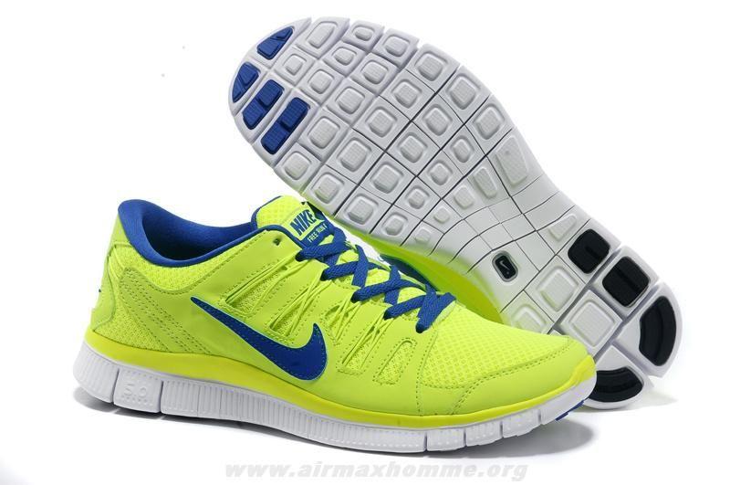 caa572d3d57e Nike Free Run 4 Hommes 580530-740 Jaune Bleu