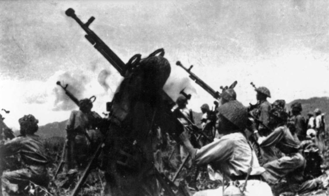 March 13,  1954: BATTLE OF DIEN BIEN PHU BEGINS  -    The battle of Dien Bien Phu begins in Vietnam as communist forces attack French troops.
