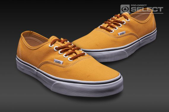 Vans Authentic - Mens Select Shoes - (Brushed Twill) Mineral Yellow-True  White 5d1275384