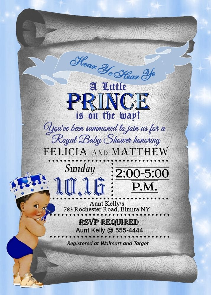 Prince Baby Shower Invitations Baby Boy Shower Invitations Royal – Garden Party Baby Shower Invitations