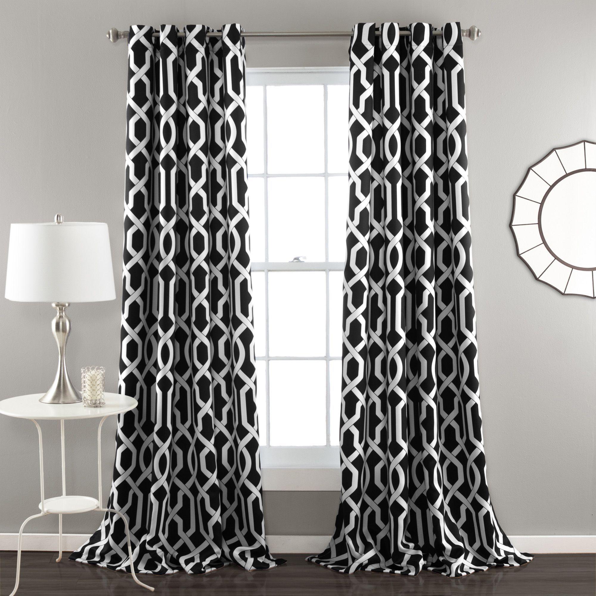 Window coverings for 2 story windows  fingerhut  lush decor edward room darkening