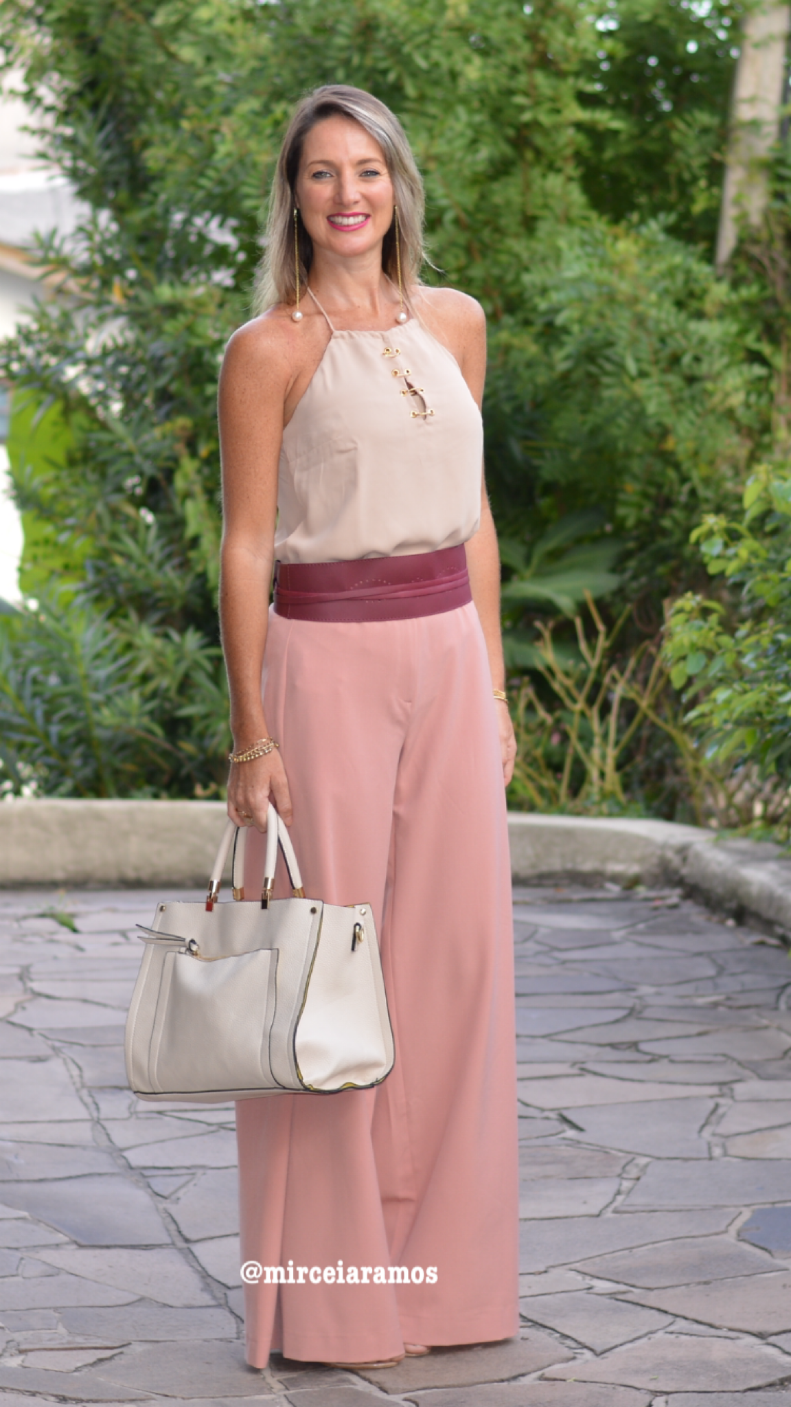 Look de trabalho - look do dia - look corporativo - moda no trabalho - work outfit - office outfit -  spring outfit - look executiva - summer outfit - pantalona - rosa - rose