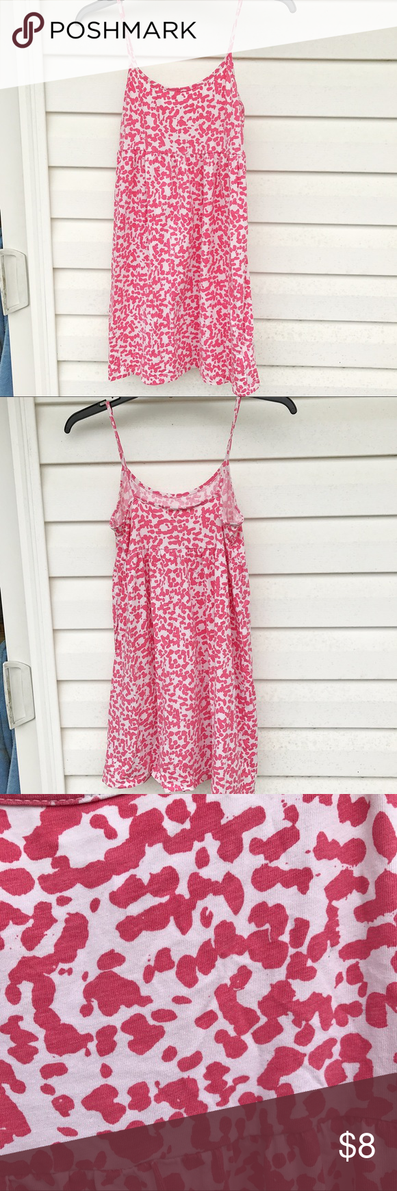 Cute Forever 21 short sundress Very lightweight and perfect for those hot days of summer! I usually wore it with some cute sandals and sometimes with a panama sunhat! Unique, paint-spatter pattern and spaghetti straps. Forever 21 Dresses Mini #shortsundress