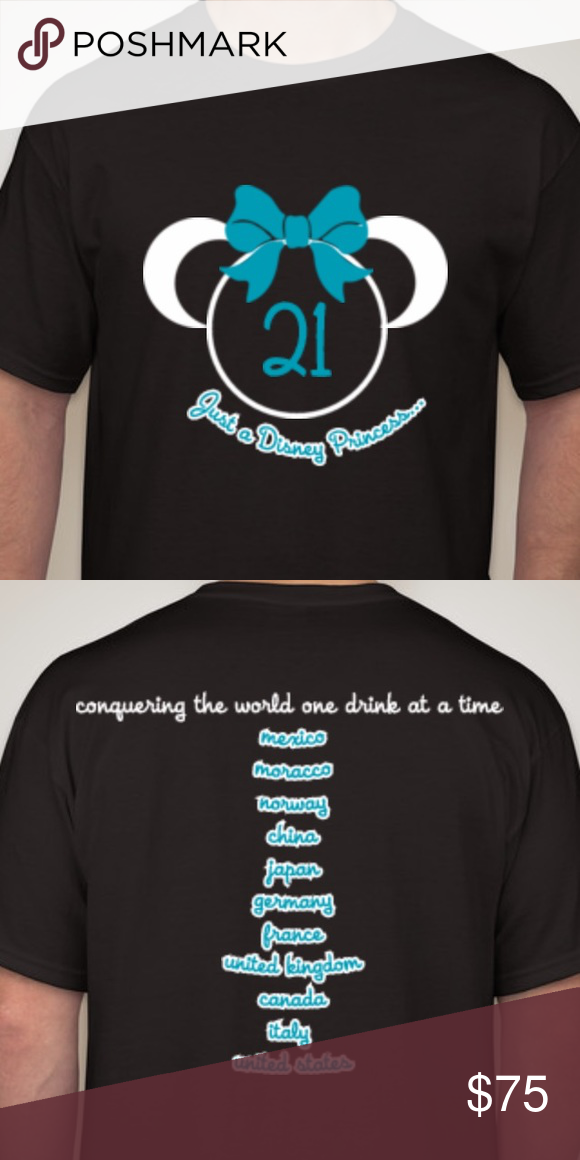 Disney Epcot 21st Birthday Drinking Shirt So Cute Tops Tees