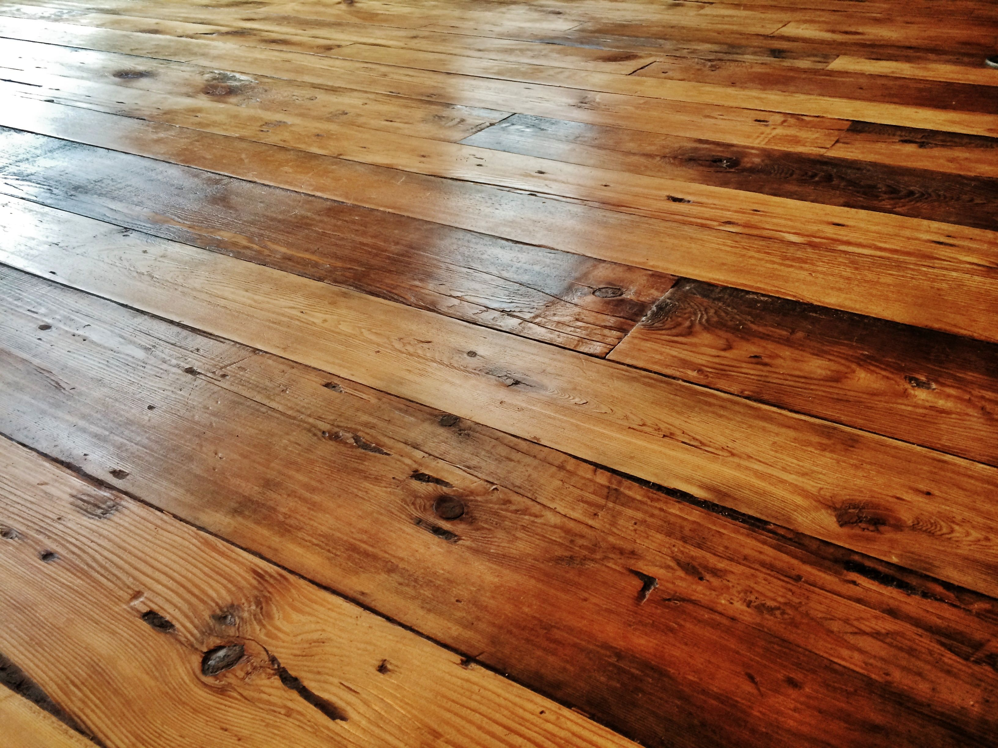 Reclaimed Wide Plank Hemlock Flooring For The Win