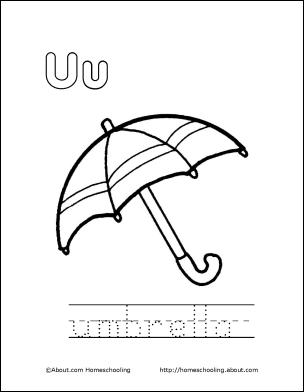 My U Book Letter U Coloring Book Umbrella Coloring Page Umbrella Coloring Pages