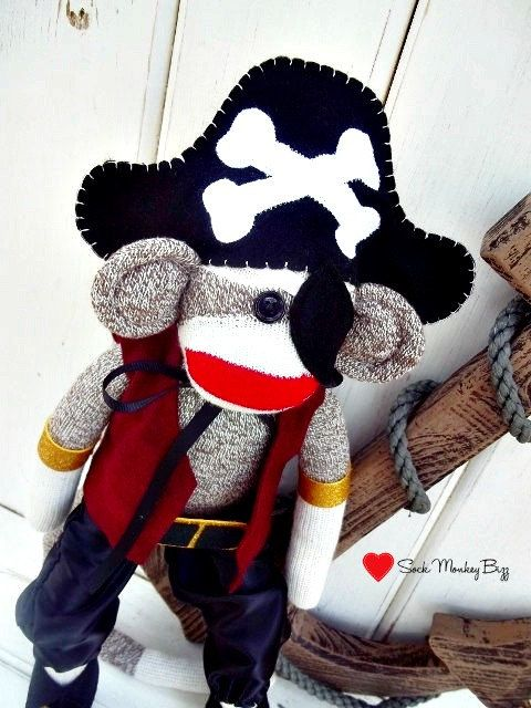 Must Have For Sebastien Sock Monkey Doll Pirate By
