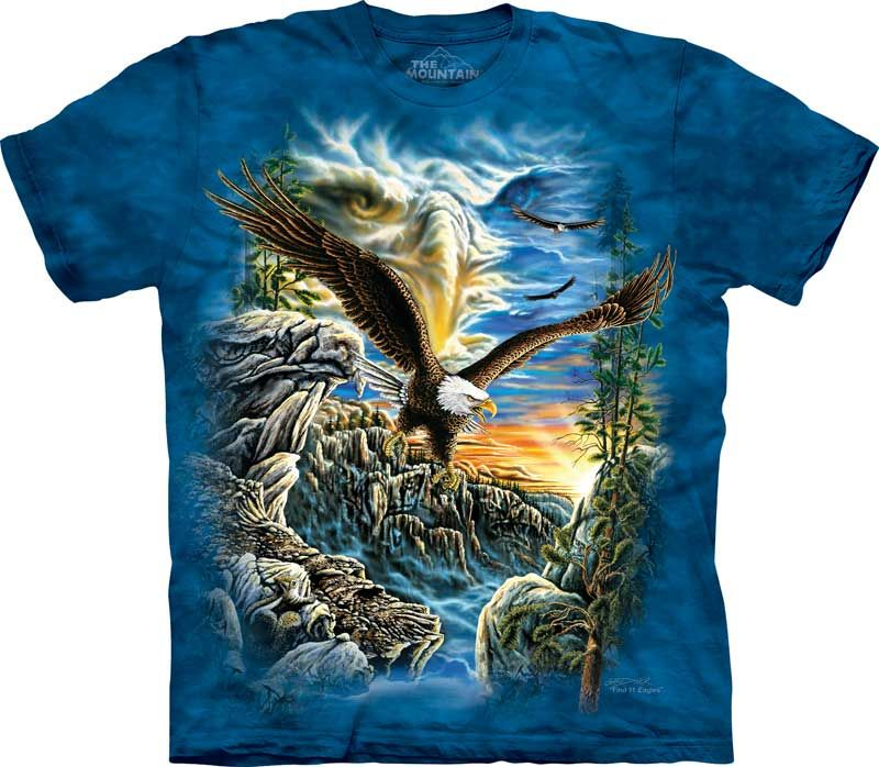 Bald Eagle America Mountain Snow Flying Soar American Forest USA Men/'s T-Shirt