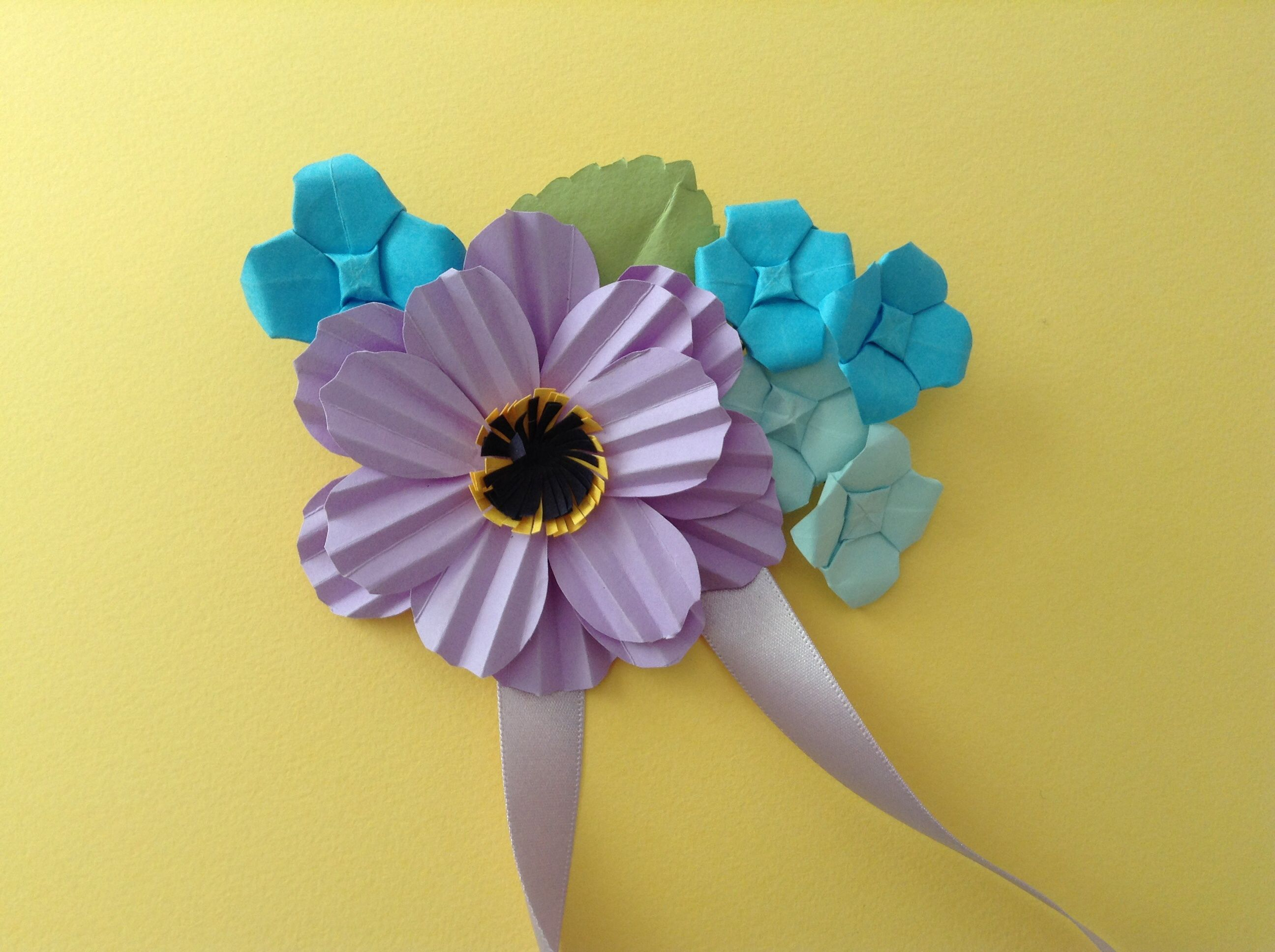 Handmade Paper Flower Corsage Made For A Vintage Themed Hen Party