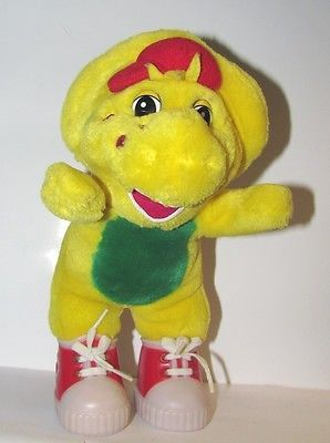 Barney BJ Yellow Red Dinosaur Lyons Group Plush Stuffed